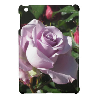 Single violet rose flower with red roses around iPad mini cover