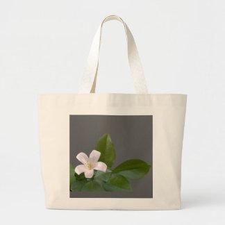 Single White Blossom Jumbo Tote Bag