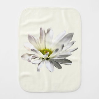 Single White Daisy Burp Cloth