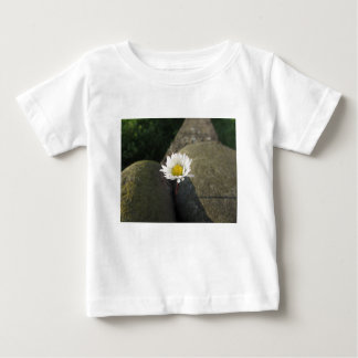 Single white daisy flower between the stones baby T-Shirt