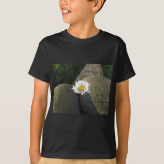 Single white daisy flower between the stones T-Shirt