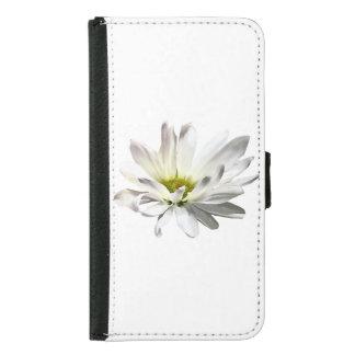 Single White Daisy Samsung Galaxy S5 Wallet Case