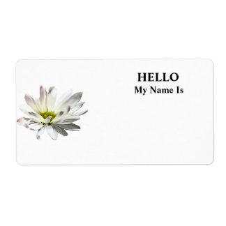 Single White Daisy Shipping Label