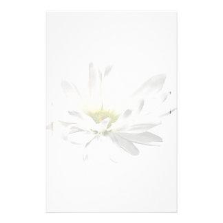 Single White Daisy Stationery
