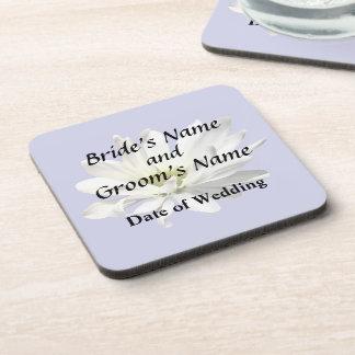 Single White Daisy Wedding Products Coaster