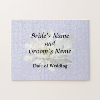 Single White Daisy Wedding Products Jigsaw Puzzle