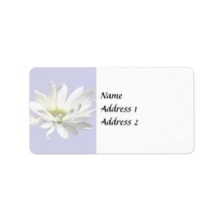 Single White Daisy Wedding Products Label