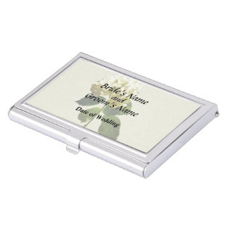 Single White Hydrangea Case For Business Cards