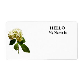 Single White Hydrangea Shipping Label