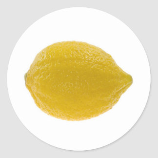 Single whole lemon classic round sticker