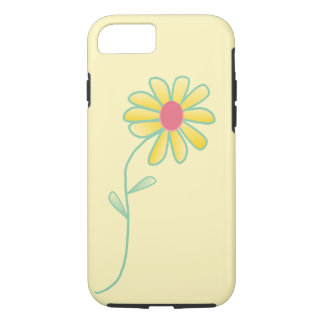 Single Yellow and Red Daisy Outlined in Green iPhone 7 Case