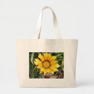 Single Yellow Flower Tote Bag