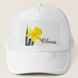 Single Yellow Narcissus Daffodil Trucker Hat