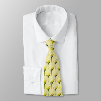 Single Yellow Rose tiled Tie