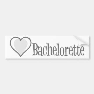 SingleHeart-Bachelorette-Gris Autocollant De Voiture