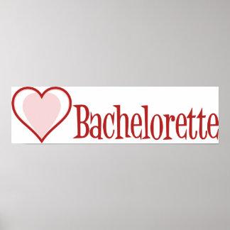 SingleHeart-Bachelorette-Red Poster