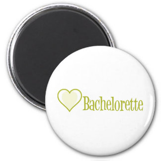 SingleHeart-Bachelorette-Ylw 2 Inch Round Magnet