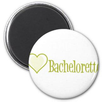 SingleHeart-Bachelorette-Ylw Fridge Magnets