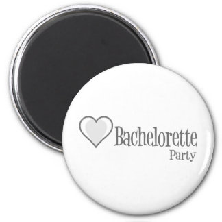 SingleHeart-BacheloretteParty-Grey 2 Inch Round Magnet