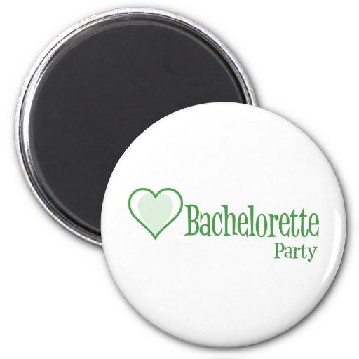 SingleHeart-BacheloretteParty-Grn Magnet