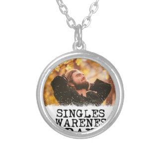Singles Awareness Day - Fifteenth February Silver Plated Necklace