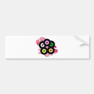 Singles Collection Jazz Background Bumper Sticker