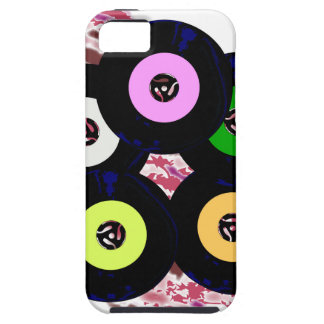 Singles Collection Jazz Background Case For The iPhone 5