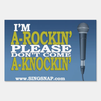 SingSnap Karaoke Yard Sign