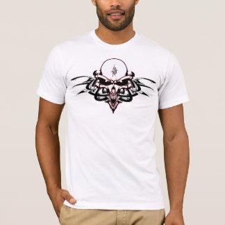 Sinister Alien Skull with Tribal Markings T-Shirt