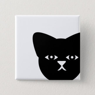 Sinister Cat 2 Inch Square Button
