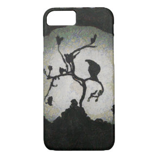 Sinister Crow perched in the Moonlight iPhone 7 Case