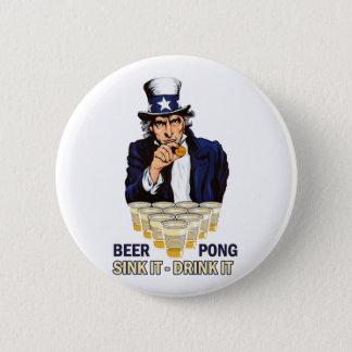 Sink it Drink it Abe Lincoln 2 Inch Round Button