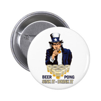 Sink it Drink it Abe Lincoln 2 Inch Round Button