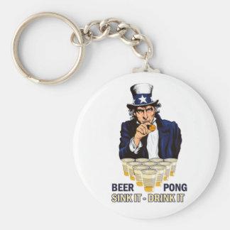 Sink it Drink it Abe Lincoln Basic Round Button Keychain