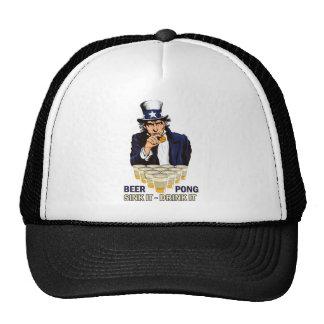 Sink it Drink it Abe Lincoln Trucker Hat