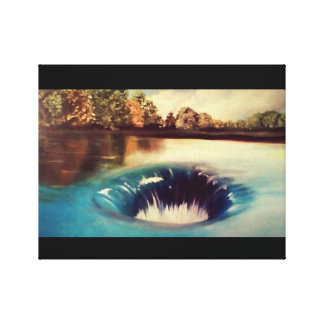 Sinkhole on a nice day canvas print