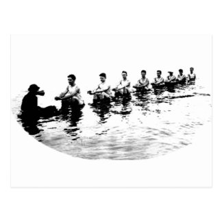 Sinking 8 Man Crew Rower Postcard