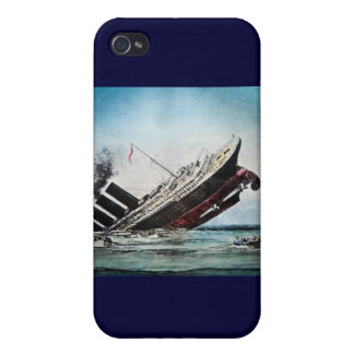 Sinking of the Titanic Magic Lantern Slide Cover For iPhone 4