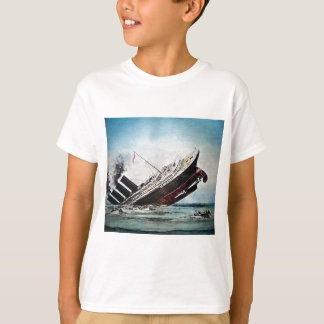 Sinking of the Titanic Magic Lantern Slide T-Shirt