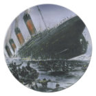 Sinking RMS Titanic Plate