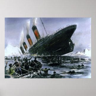 Sinking RMS Titanic Poster