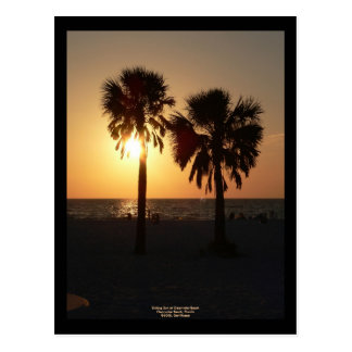 Sinking Sun at Clearwater Beach, Florida Postcard