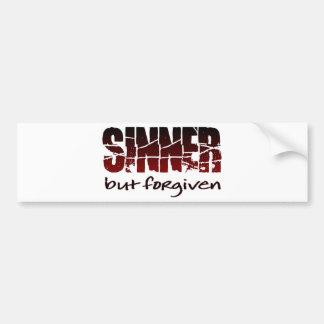 Sinner but forgiven bumper sticker