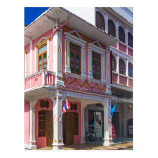 Sino Portuguese architecture in Phuket Town Postcard