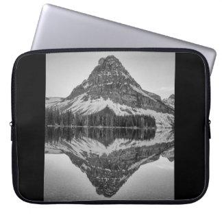 Sinopah Mountain Reflection, Glacier National Park Laptop Sleeves