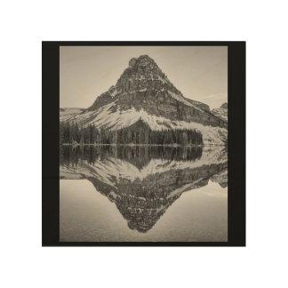 Sinopah Mountain Reflection, Glacier National Park Wood Wall Art