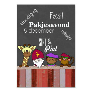 Sint - invitation - Sint and piet