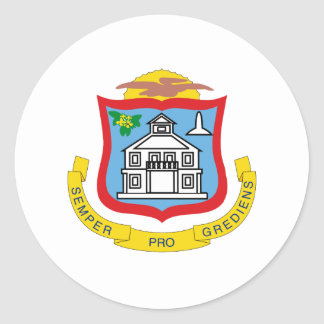 Sint Maarteaner coat of arms Classic Round Sticker