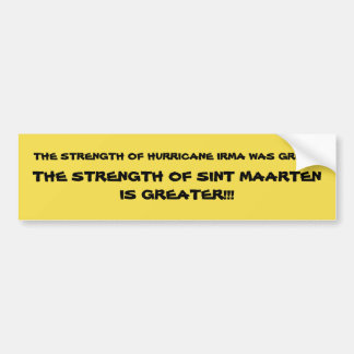 SINT MAARTEN IS GREATER!!! BUMPER STICKER