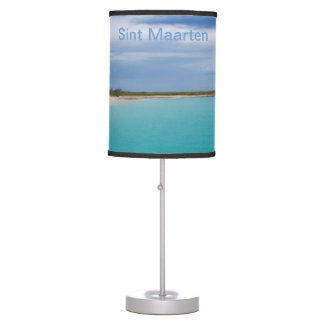 Sint Maarten Lampshade - sea, sand, sky Table Lamp